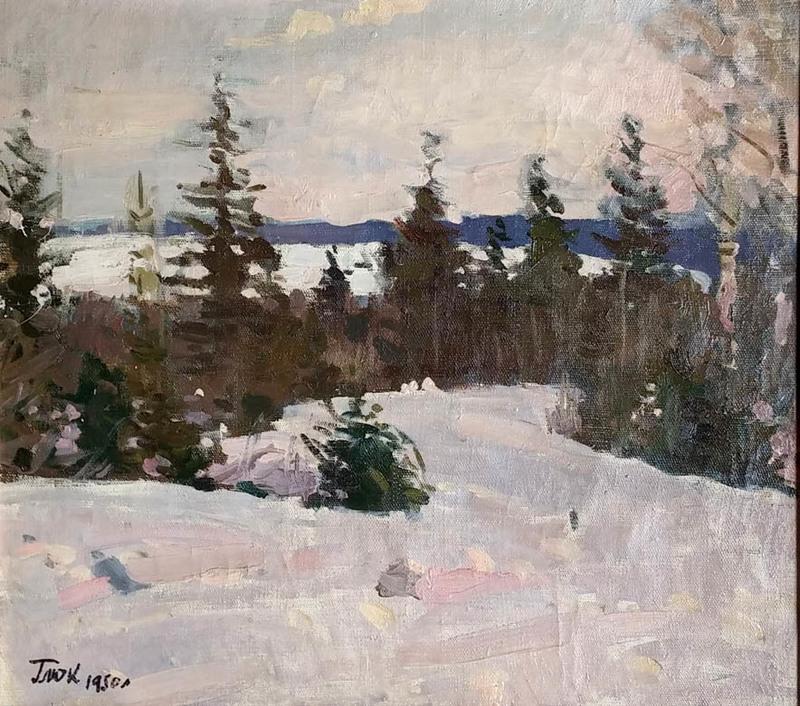 Russian Winter Landscape By Gavriil Glyuk Buy Art Online Artprice