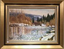Raymonde AUBRY - Painting - Les bords de la Saine