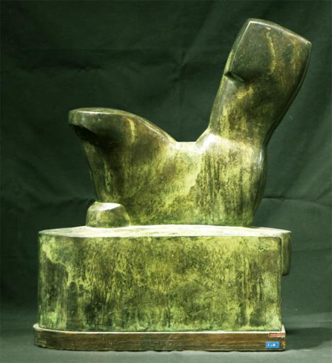 Mario NEGRI - Sculpture-Volume - Nudo Seduto