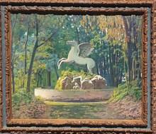 Santiago RUSIÑOL Y PRATS - Painting - El caballo marino