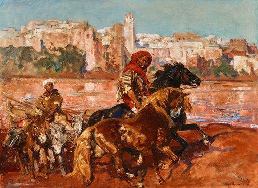 Henri Émilien ROUSSEAU - Pintura - Baignade devant Azemmour