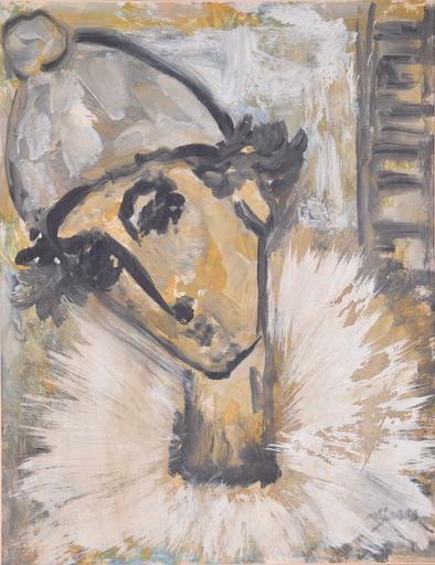 José MIJARES - Pintura - Untitled (Clown)