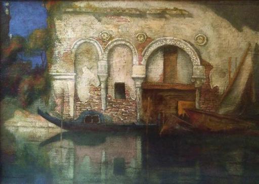 Gennaro FAVAI - Gemälde - Veduta di Ca' da Mosto a Venezia (1909)
