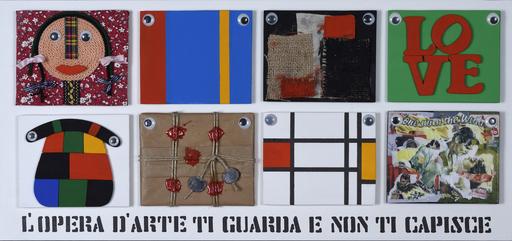 Sergio VANNI - Peinture - L'OPERA D'ARTE TI GUARDA E NON TI CAPISCE