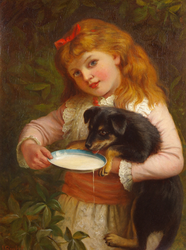 Jane Maria BOWKETT - Painting - A Break From Play