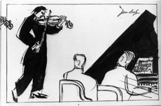 Jean DUFY - Drawing-Watercolor - Duo pour violon et piano