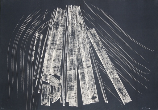 Hans HARTUNG - Estampe-Multiple - Untitled
