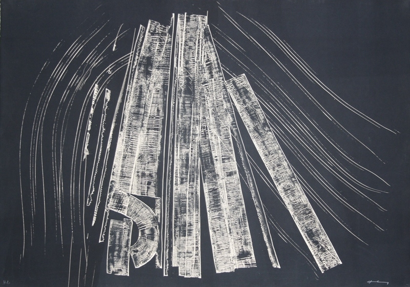 Hans HARTUNG - Estampe-Multiple - Untitled