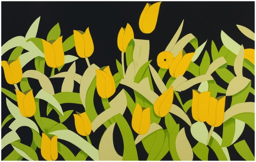 Alex KATZ - Grabado - Yellow Tulips