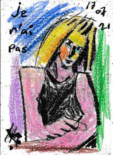 Harry BARTLETT FENNEY - Disegno Acquarello - jenifer the original portrait  (16 09 21)
