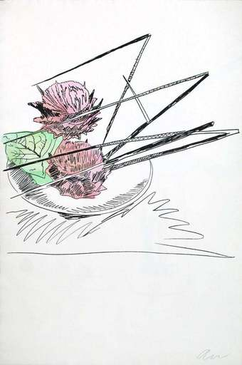 Andy WARHOL - Print-Multiple - Flowers Unique (Hand Colored)