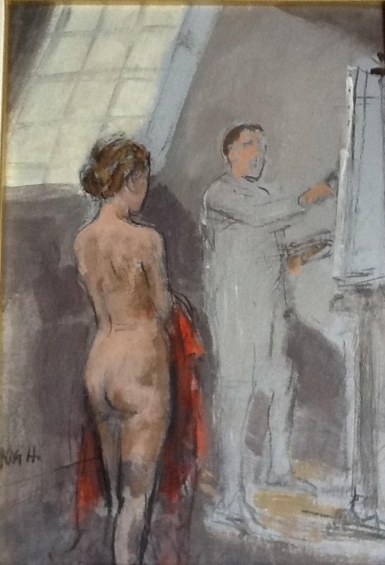 Alberto SUGHI - Peinture - IL PITTORE E LA MODELLA