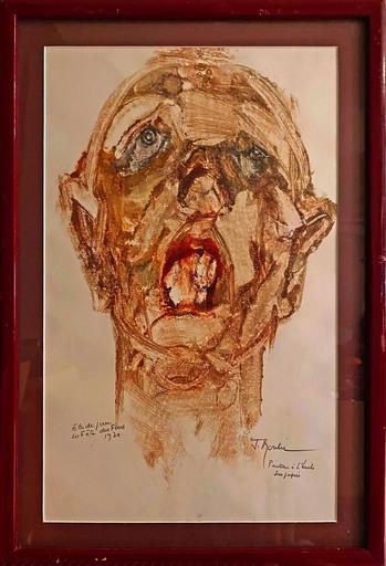 Jean MOULIN - Painting - Étude pour la fête des pères