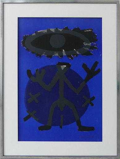 A.R. PENCK - Grabado - Standart Variation Schwarz-Blau