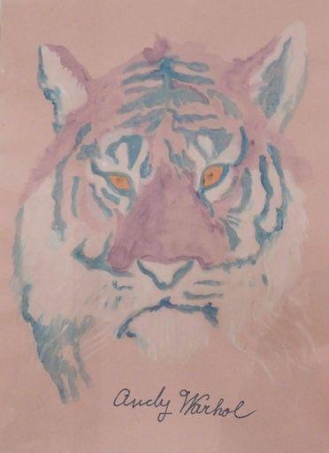 Andy WARHOL - Drawing-Watercolor - SIBERIAN TIGER