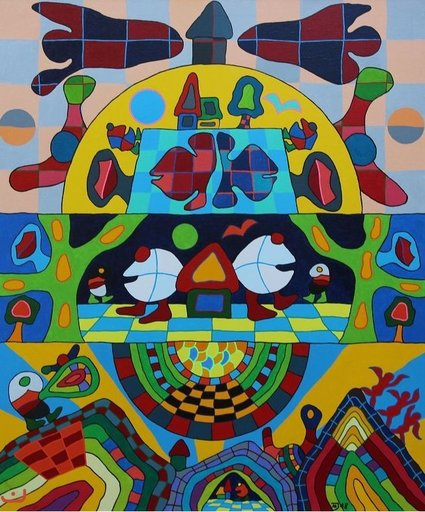 Michael JANSEN - Painting - Aus dem Haus deiner Gefühle