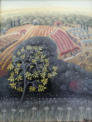 F.B. BAUMGARTEN - Painting - Un bel après midi d'automne