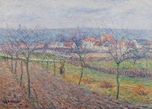 Gustave LOISEAU - Painting - Paysage de printemps
