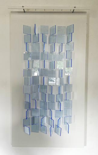 Julio LE PARC - Sculpture-Volume - Mobile translucide bleu