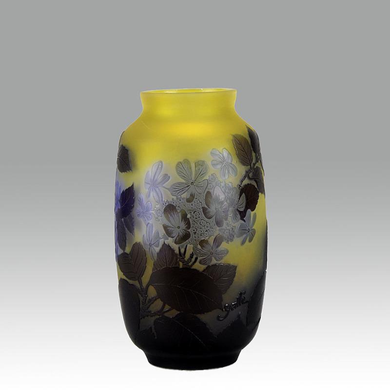 Émile GALLÉ - Blue Flower Vase