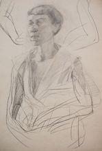Bernhard HEISIG - Dibujo Acuarela - Weibliches Porträt