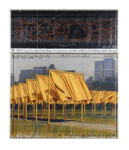 CHRISTO - Gemälde - The Gates: Project for Central Park, New York City