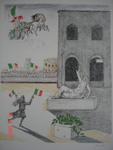 Giorgio DE CHIRICO - Stampa-Multiplo - l'Italia del Centenario