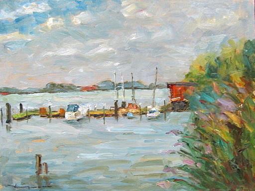 Walter BRÜGGMANN - Painting - Am Elbufer bei Tangermünde.