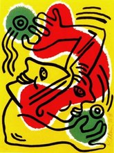 Keith HARING - Stampa Multiplo - International Volunteer Day