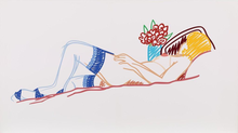 Tom WESSELMANN - Print-Multiple - Nude with Bouquet and Stockings