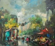 Fernand CLAVER (1918-c.1961) - Place de la Madeleine Paris