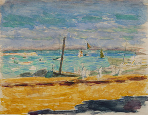Pierre BONNARD - Drawing-Watercolor - Marine dans un port du Midi