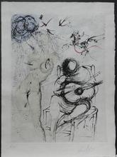 Salvador DALI - Estampe-Multiple - Poems Secrets Nude with Guitar