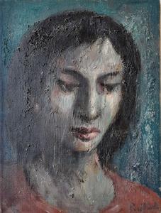 Domenico PURIFICATO - Painting - Figura di donna