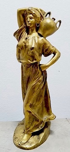 Paul Hippolyte ROUSSEL - Sculpture-Volume - La porteuse d'eau