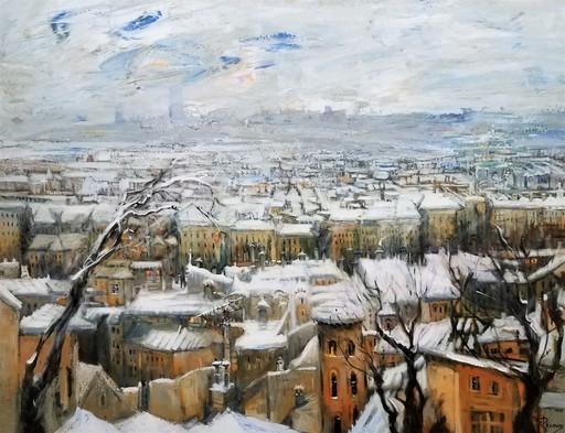 Gilbert PECOUD - Gemälde - Tempête de neige