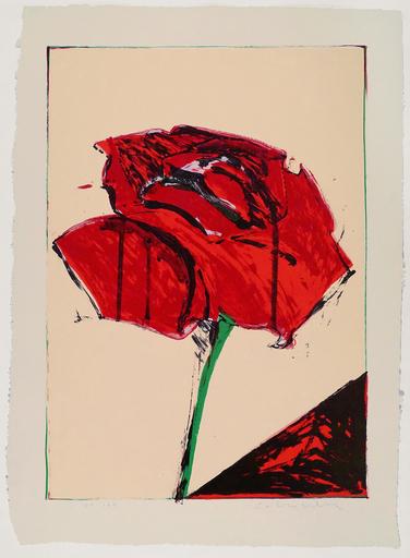 Fritz William SCHOLDER - 版画 - Rose (lithograph)                                          .