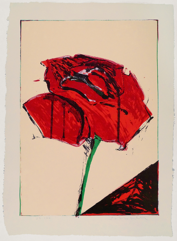 Fritz William SCHOLDER - Estampe-Multiple - Rose (lithograph)