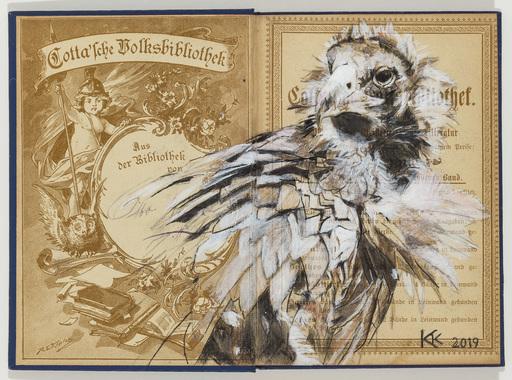 Kristin KOLB - Drawing-Watercolor - Mönchsgeier