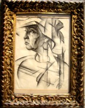 Natan Isaevich ALTMAN - Dibujo Acuarela - Portrait of N. E. Dobychina (Fishman) (1884-1950).