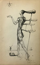 Salvador DALI - Drawing-Watercolor - Untitled
