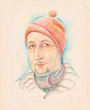 Carry HAUSER - Drawing-Watercolor - Männerporträt