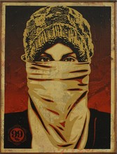 Shepard FAIREY - Painting - Protestor