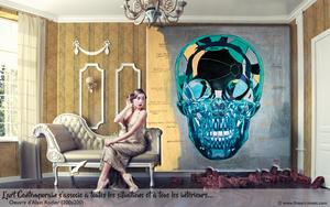 Alain RODIER - Peinture - Balloon Skull