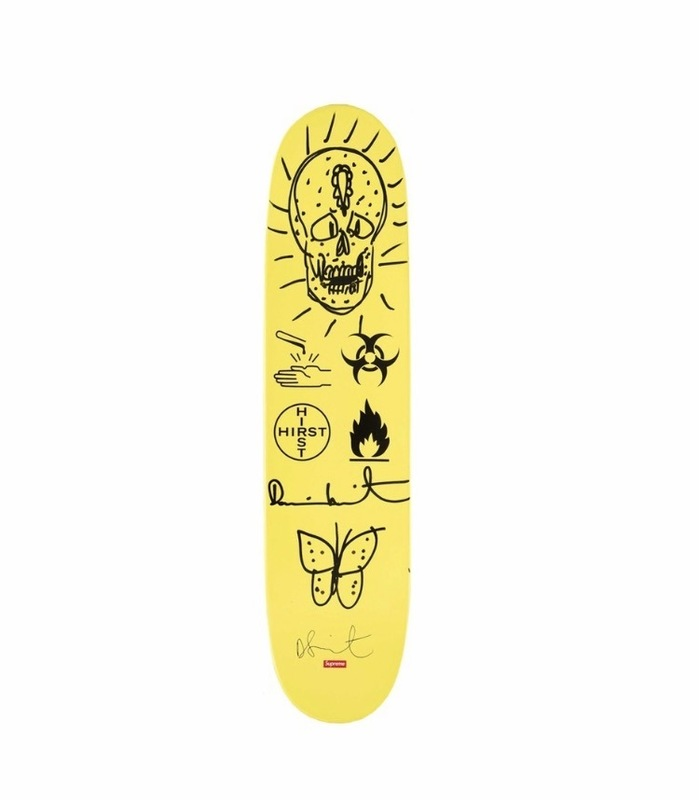 Damien HIRST - Drawing-Watercolor - Supreme Deck, Yellow #6,
