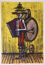 Bernard BUFFET - Estampe-Multiple - Homme-orchestre