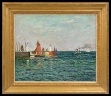 Maxime MAUFRA - Pintura - Entrée du Port de Palais, Belle-Île en Mer