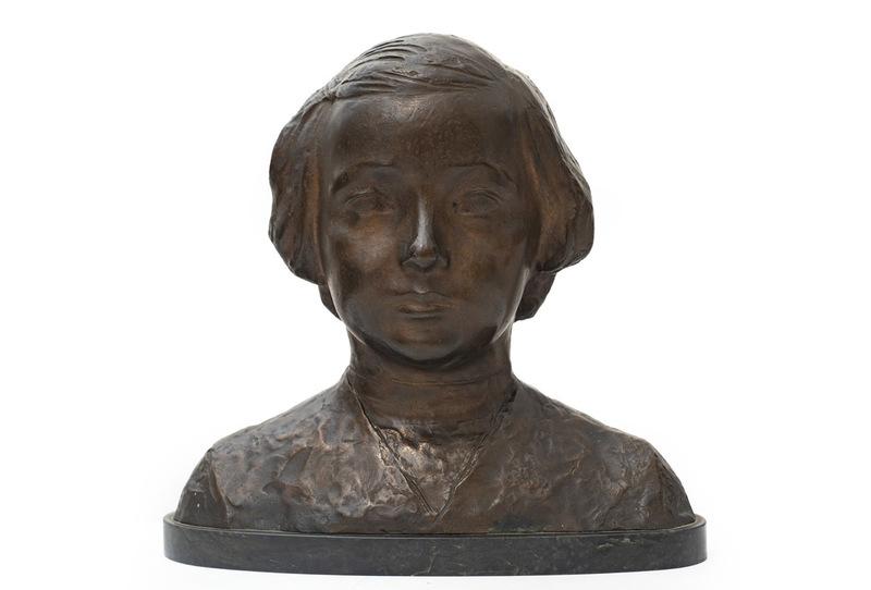 Ercole DREI - Escultura - busto di giovinetta