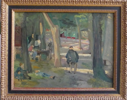 Arthur GANGAND - Painting - paysage anime