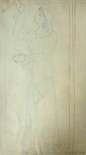 Joseph CSAKY - Drawing-Watercolor - Woman picking Apples